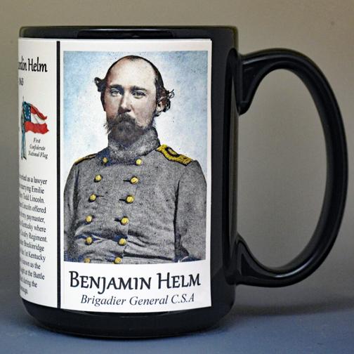 Benjamin Helm Civil War history mug.