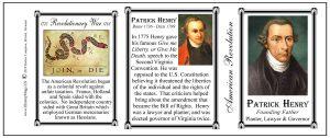 Patrick Henry Revolutionary War history mug tri-panel.