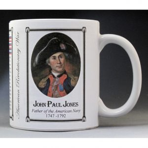 John Paul Jones Revolutionary War history mug.