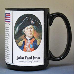 John Paul Jones, American Revolutionary War biographical history mug.