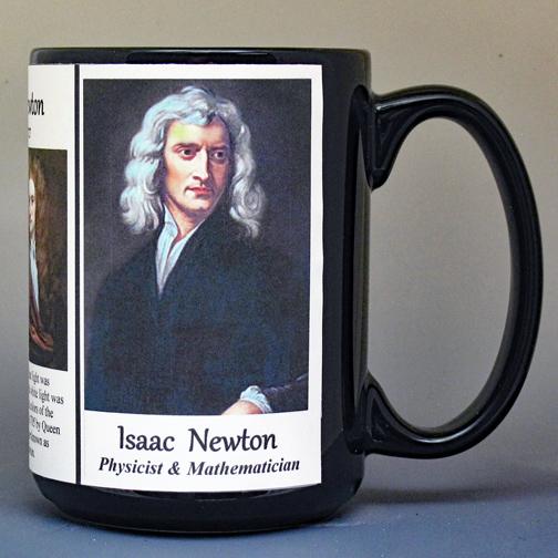 Isaac Newton Astronomy & Physics history mug.