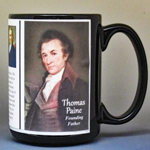 Thomas Paine, American Revolutionary War biographical history mug.