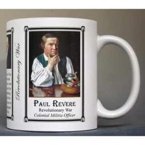Paul Revere Revolutionary War history mug.