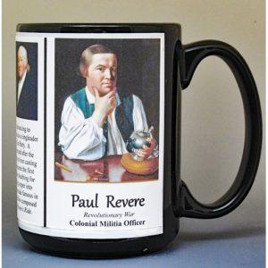 Paul Revere, American Revolutionary War biographical history mug.