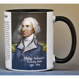 Philip Schuyler Revolutionary War biographical history mug.