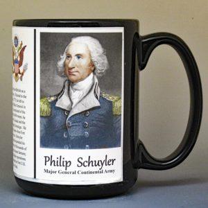 Philip Schuyler, American Revolutionary War biographical history mug.