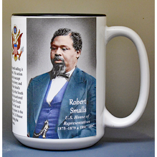 Robert Smalls, US Representative biographical history mug.