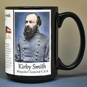 Edmund Kirby Smith, Confederate Army, US Civil War biographical history mug.