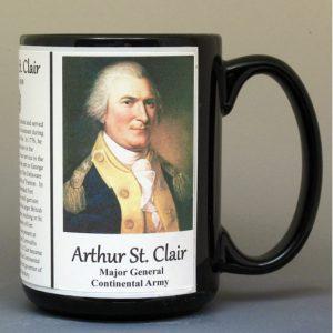 Arthur St. Clair, American Revolutionary War biographical history mug.