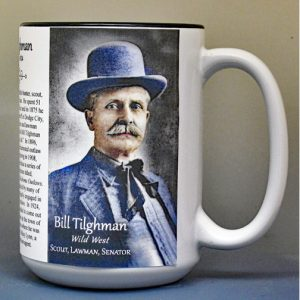 "Bill Tilghman, ""wild west"" biographical history mug."