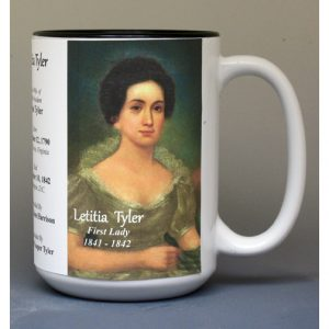 Letitia Tyler, US First Lady biographical history mug.