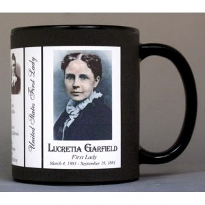 Lucretia Garfield US First Lady history mug.