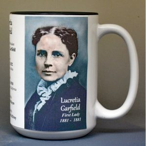 Lucretia Garfield, US First Lady biographical history mug.