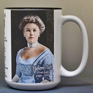 Helen Taft, US First Lady biographical history mug.