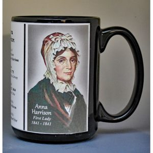 Anna Harrison, US First Lady biographical history mug.