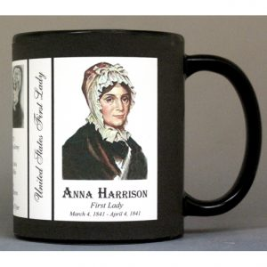 Anna Harrison US First Lady history mug.