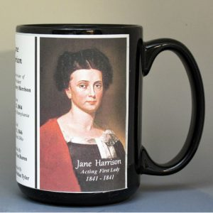 Jane Harrison, White House Hostess biographical history mug.
