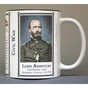Lewis Armistead, Civil War biographical history mug.