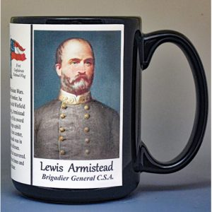 Lewis Armistead, US Civil War biographical history mug.
