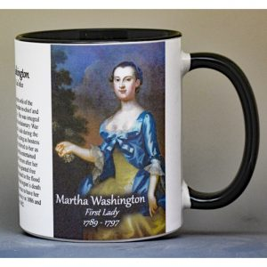Martha Washington, First Lady history mug.