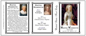 Martha Washington US First Lady history mug tri-panel-150