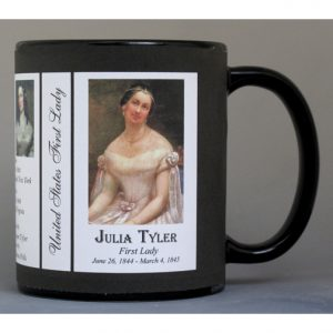 Julia Tyler First Lady history mug.