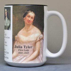 Julia Tyler, US First Lady history mug.