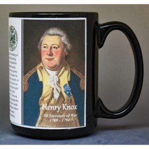 Henry Knox, US Secretary of War biographical history mug.