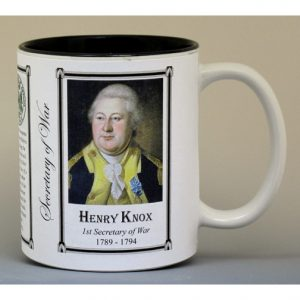 Henry Knox Secretary of War history mug.