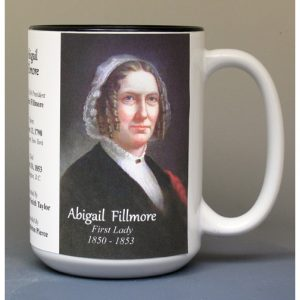 Abigail Fillmore, US First Lady biographical history mug.
