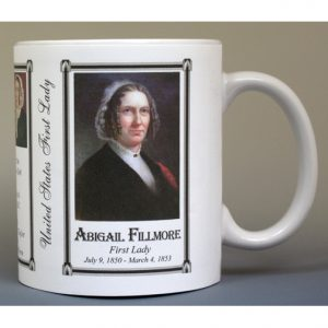 Abigail Fillmore First Lady history mug.