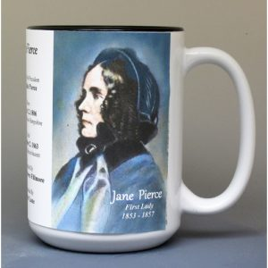 Jane Pierce, US First Lady biographical history mug.