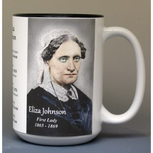 Eliza Johnson, US First Lady biographical history mug.