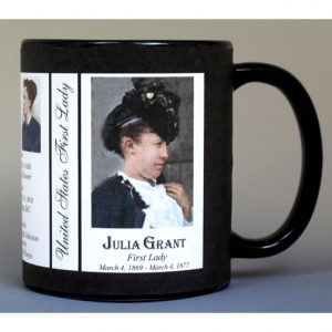 Julia Grant First Lady history mug.