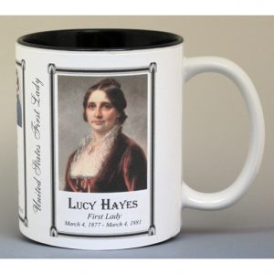 Lucy Hayes First Lady history mug.