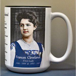 Frances Cleveland, US First Lady biographical history mug.