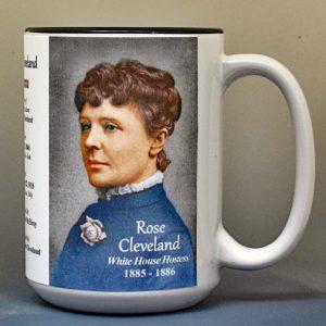 Rose Cleveland, White House Hostess biographical history mug.