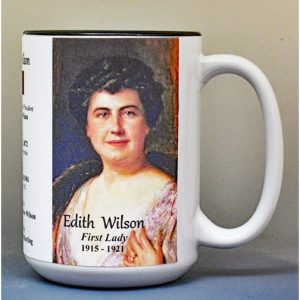 Edith Wilson, US First Lady biographical history mug.