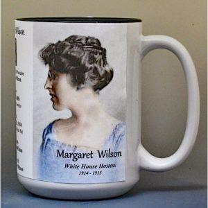 Margaret Wilson, White House Hostess biographical history mug.