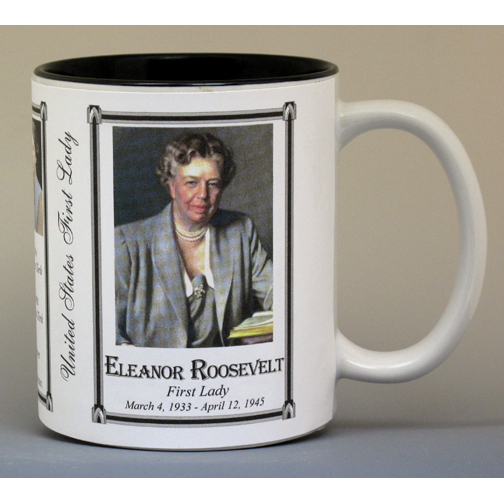 Eleanor Roosevelt, First Lady history mug.