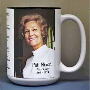 Pat Nixon, US First Lady biographical history mug.