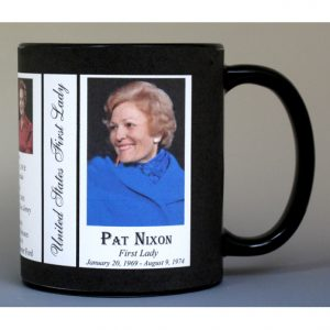 Pat Nixon First Lady history mug.