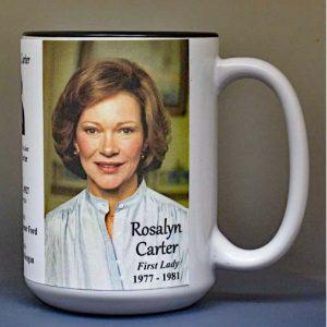 Rosalyn Carter, US First Lady biographical history mug.