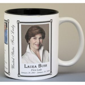 Laura Bush First Lady history mug.
