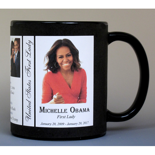 Michelle Obama, First Lady, history mug.