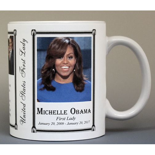 Michelle Obama First Lady history mug.