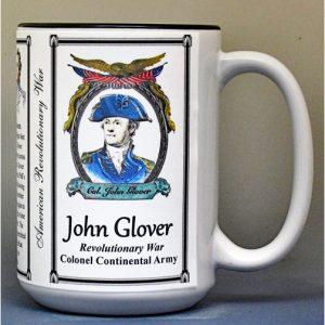 John Glover, American Revolutionary War biographical history mug.