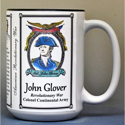John Glover Revolutionary War history mug.