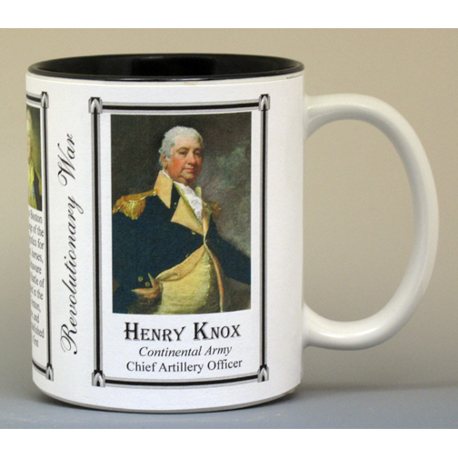Henry Knox Revolutionary War history mug.