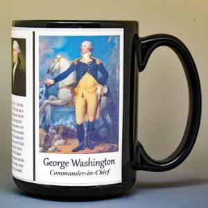 George Washington, American Revolutionary War biographical history mug.